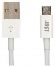 Кабель JUST Simple Micro USB Cable White 1M (MCR-SMP10-WHT)