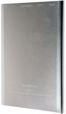 Универсальная мобильная батарея Drobak Power Bank Alum-20000 (Li-Pol/Silver)