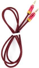 Аудио-кабель DENGOS 3,5мм-3,5мм, 1м RED
