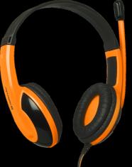Гарнитура DEFENDER Warhead G-120 черн+оранж, 2 м