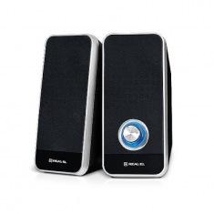Колонки 2.0 REAL-EL S-80, USB, черные