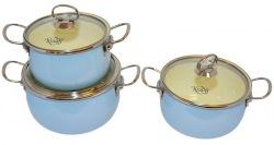 Набор посуды KRAUFF 26-224-023  Marine эмаль 6пр.
