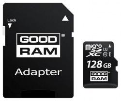 Карта памяти GOODRAM microSDXC 128GB Class 10 UHS I+ adapter (M1AA-1280R11)