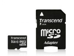 Карта памяти TRANSCEND microSDHC 8 Gb (Class10)+SD-adapter (TS8GUSDHC6)