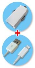 Зарядное устройство для автомобиля GLOBAL MSH-SC-031 с кабелем для iPhone