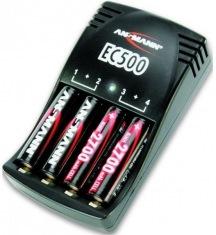 Зарядное устройство Ansmann EC500 + 4 AA 2700 mAh GL
