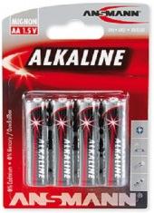Батарейки ANSMANN Alkaline RED AA (4 шт.)