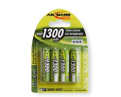 Аккумуляторы Ansmann 4*AA 1300 mAh