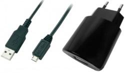 Сетевое зарядное устройство Global MSH-TR-071 (1USB1A) c кабелем для Micro USB Black
