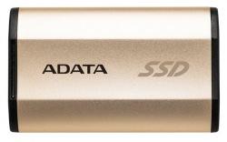 Накопитель SSD 250GB A-DATA SE730 Metal Gold USB 3.1 (ASE730-250GU31-CGD)