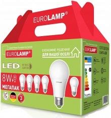 Промо-набор EUROLAMP LED ЕКО A60 8W E27 3К 6 шт.