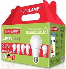 Промо-набор EUROLAMP LED Лампа ЕКО A60 8W E27 4000К