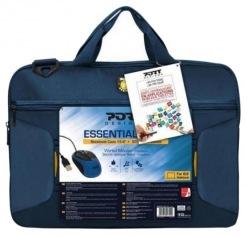 """Сумка для ноутбука 17"""" Port Designs Bag Essential Pack Blue + мышь (501722)"""