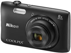 Фотоаппарат цифровой NIKON S3600 Black