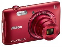 Фотоаппарат цифровой NIKON S3600 Red