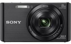 Фотокамера SONY W830 Black + карта SD 16GB