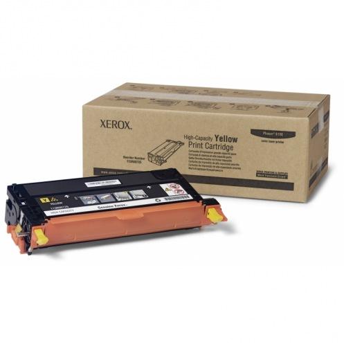 Тонер картридж Xerox PH6180 Yellow (Max)