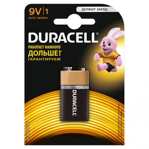 Батарейки DURACELL MN1604 (9V) (1ШТ)