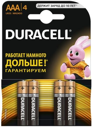 Батарейки DURACELL AAA MN 2400 (4шт)
