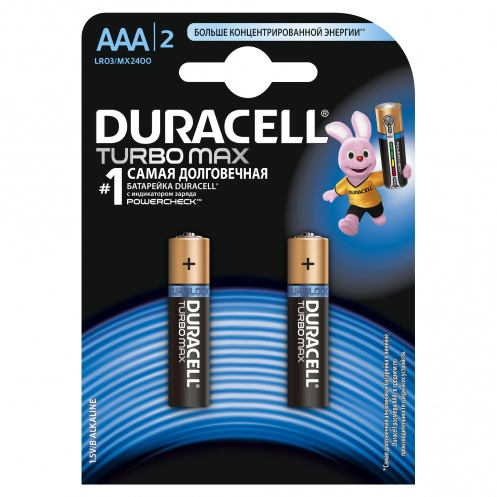 Батарейки DURACELL AAA MN( MX) 2400TURBO(2шт)