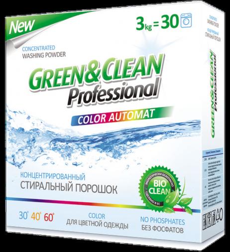 Стиральный порошок для цветной одежды, Green&Clean Professional 3 кг/30 стирок