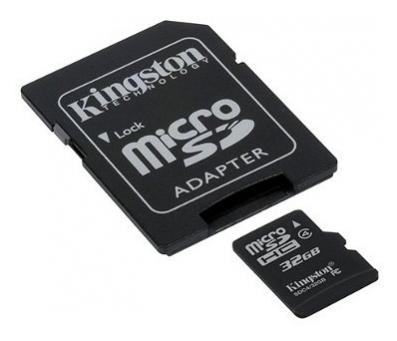 Карта пам'яті Kingston MicroSDHC 32GB (Class 4) +S