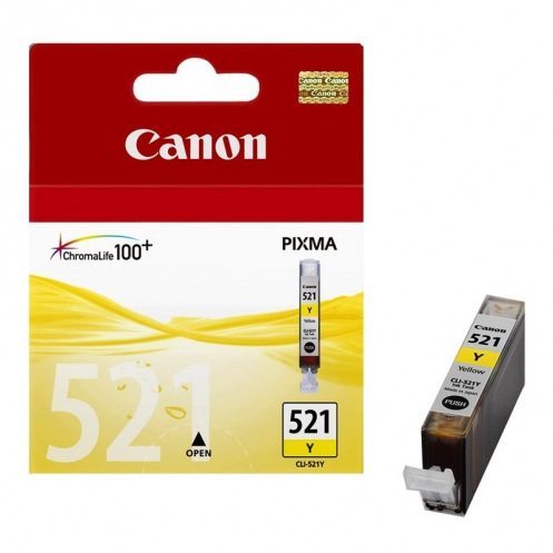 Картридж CANON CLI-521Y жовтий