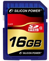 Карта памяти Silicon Power SDHC 16 GB 10 Cl
