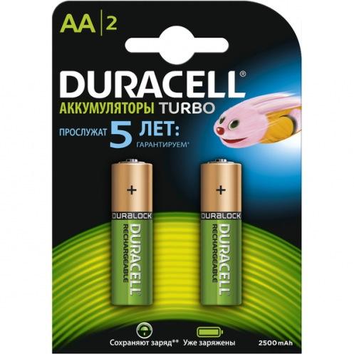 Аккумулятор DURACELL АА HR6 2500мАн (2шт)