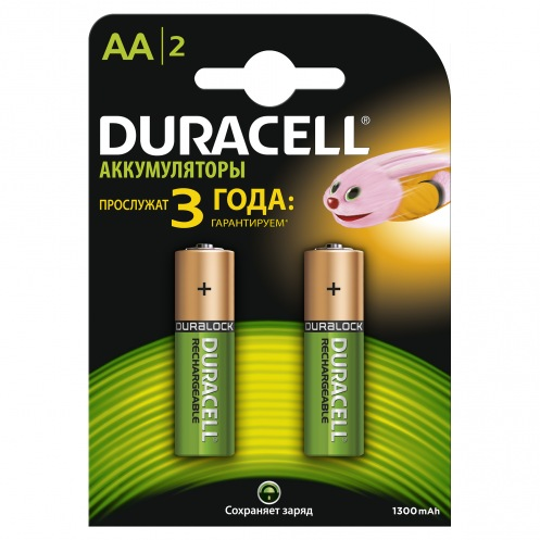 Аккумуляторы DURACELL HR06 (AA) 1300mAh(2шт)
