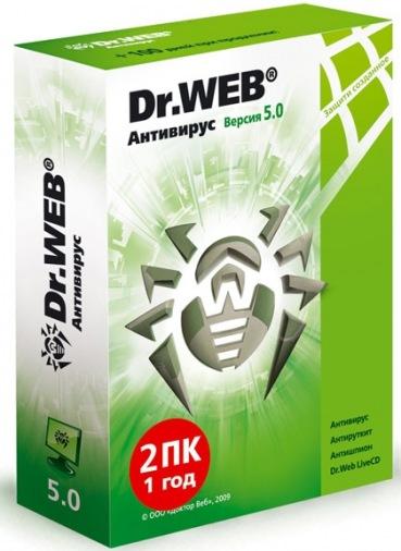 Антивирус Dr.Web 2ПК/1Г