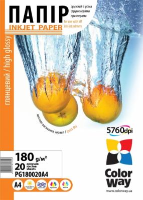 Бумага CW 10х15 180г/м, ПГ180-20 (26615)