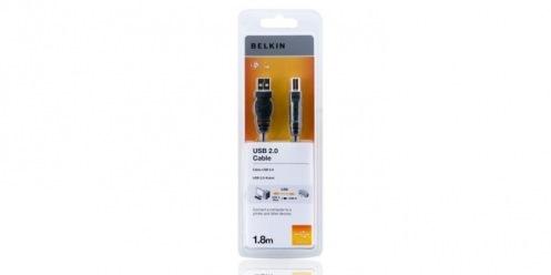 Кабель BELKIN USB 2.0 (AM/ BM) 1.8 м (F3U154CP1.8M) Black