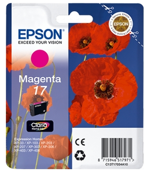 Картридж Epson 17 XP103/ 203/ 207 (C13T17034A10) magenta