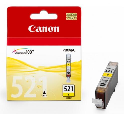 Картриджі для струменевих принтерів Canon CLI-521Y (Yellow)