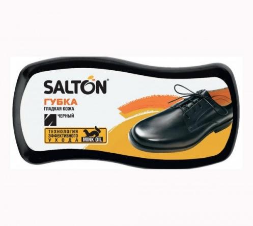 SALTON Губка д/гладкої шкіри з норк.маслом Чорний
