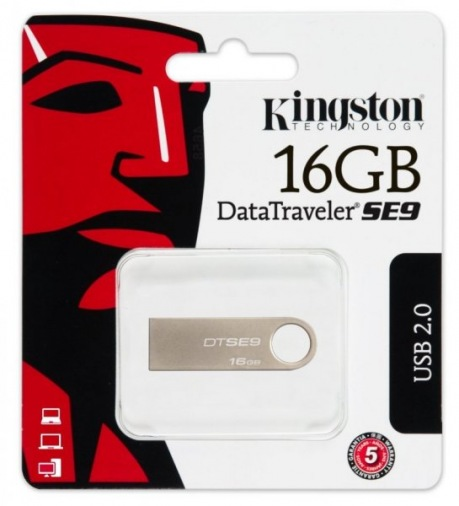 Накопитель USB 16Gb Kingston DataTraveler SE9 Silver (DTSE9H/16GBZ)