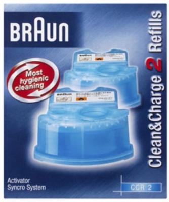 Жидкость для чистки бритв Braun CCR 2 (2шт)