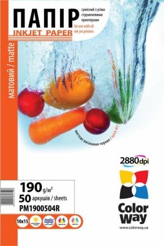 Бумага ColorWay 10x15 ПМ 190-50