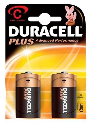 Батарейки Duracell C bat Alkaline 2шт Basic 81427263