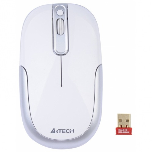 Мышь A4Tech G9-110H-2 бело-серебряная, Holeless, USB