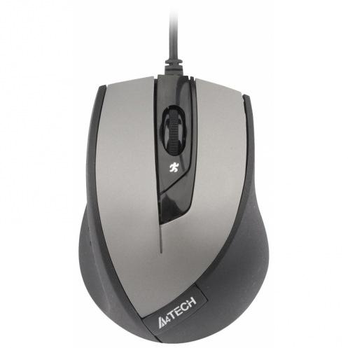 Мышь A4Tech N-600X-2 серая, V-Track, USB