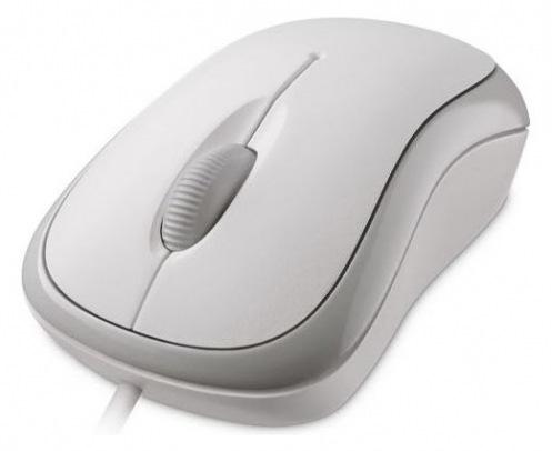 Мышь Microsoft Basic Optical USB White Business (4YH-00008)