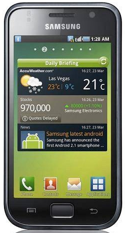 Смартфон Samsung Galaxy S GT-I9003 Midnight Black