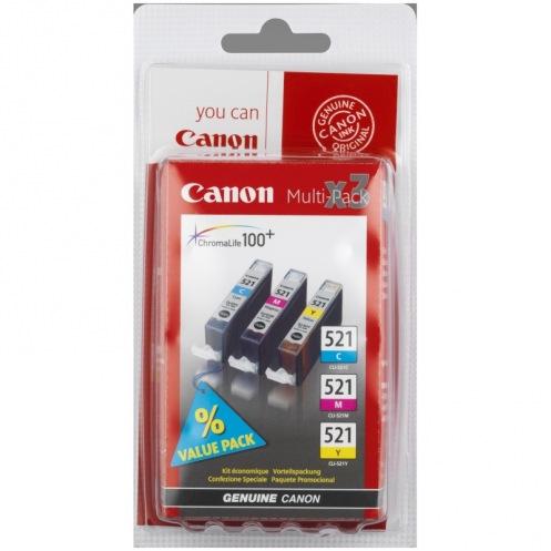 Набор картриджей Canon CLI-521 Bundle (C, M, Y) MP540/630 (2934B010)