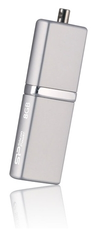 Накопитель USB 8Gb Silicon Power LUX mini 710 Silver (SP008GBUF2710V1S)