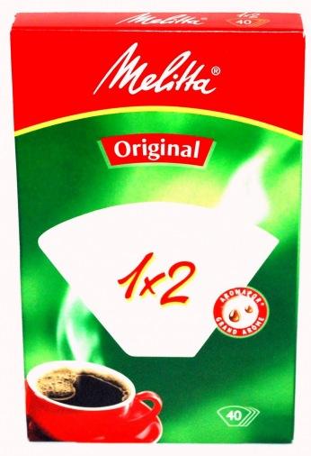 Фильтр для кофеварок  MELITTA 1x2/40 white