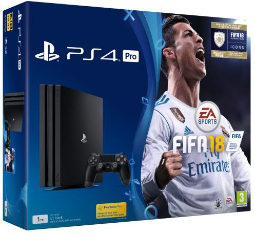 Консоль Sony PS4 Pro1TB Black (FIFA (2018))