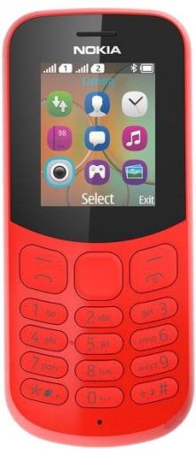 Мобильный телефон NOKIA 130 Dual Sim (Red) TA-1017