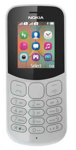 Мобильный телефон NOKIA 130 Dual Sim (Grey) TA-1017